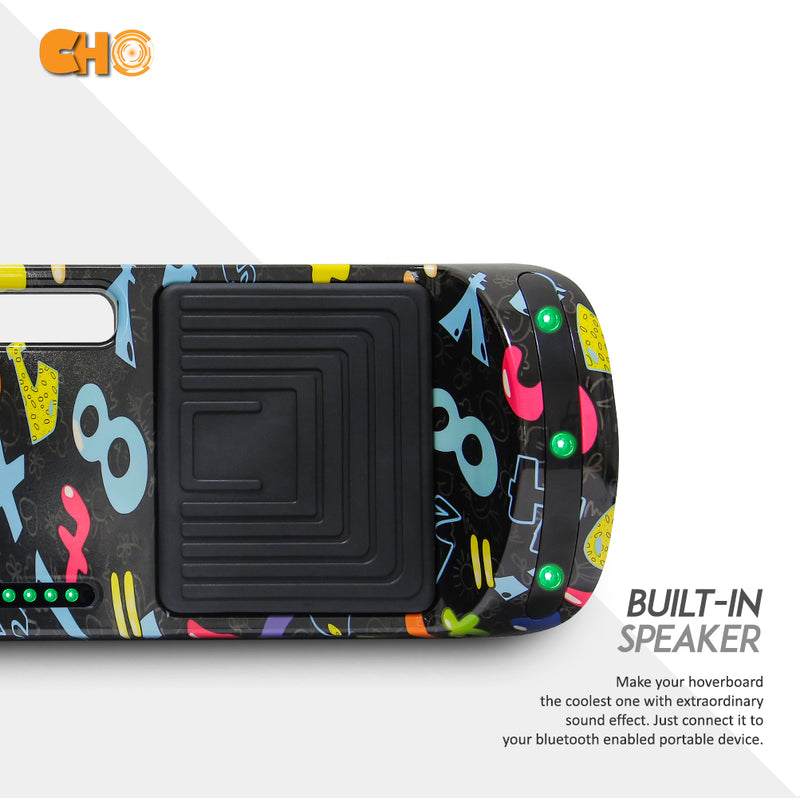 CHO Flatboard Series Hoverboard Graffiti Black - CHO Sports