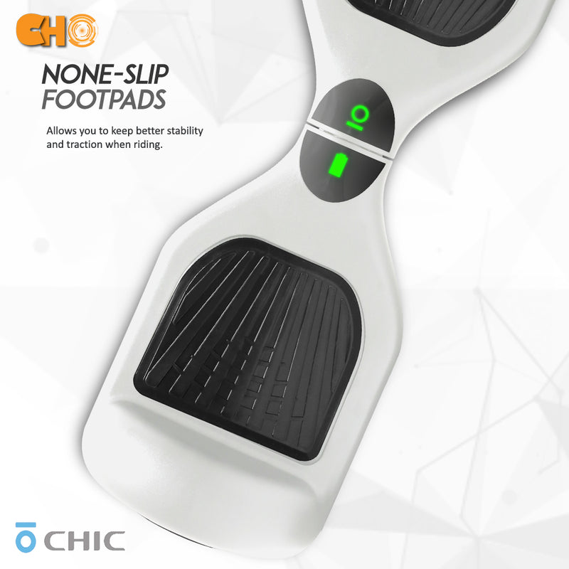"6.5"" CHO Chrome Series Hoverboard Flat White - CHO Sports"