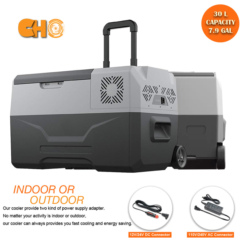 32 Quart (30 Liter) Portable Refrigerator Cooler & Freezer - CHO Sports