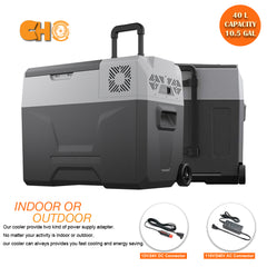 42 Quart (40 Liter) Portable Refrigerator Cooler & Freezer - CHO Sports