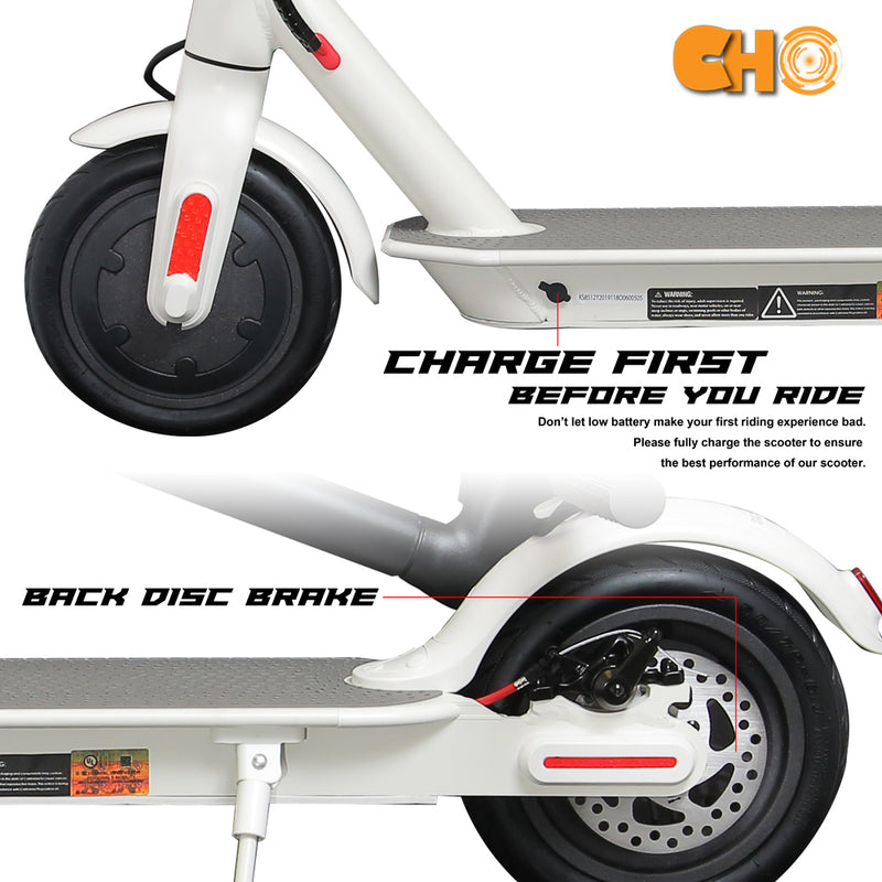 CHO Electric Portable Rechargeable Folding Scooter White - CHO Sports