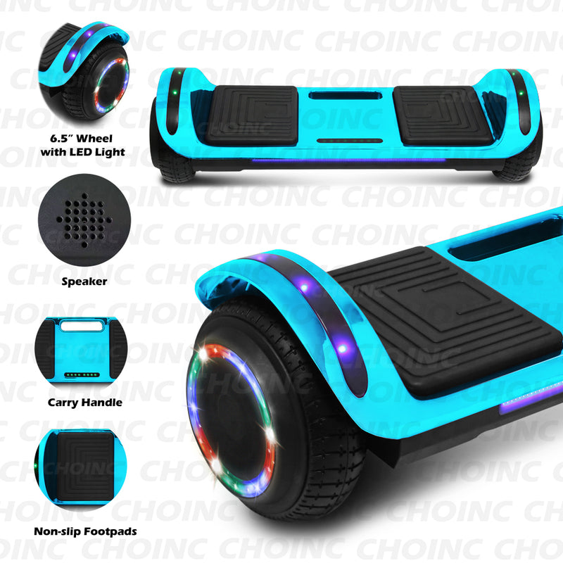 CHO Flatboard Series Hoverboard Chrome Blue - CHO Sports
