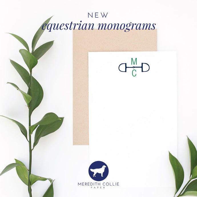 New Equestrian Monograms