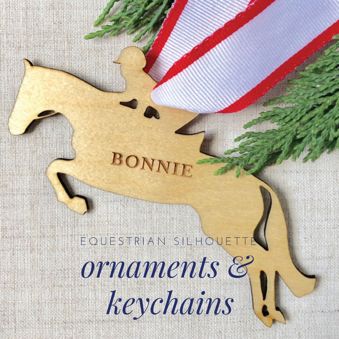 Equestrian Silhouette Ornaments and Keychains