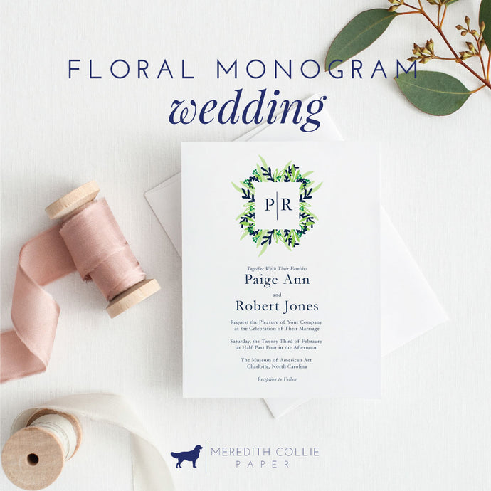 Floral Monogram Wedding Collection