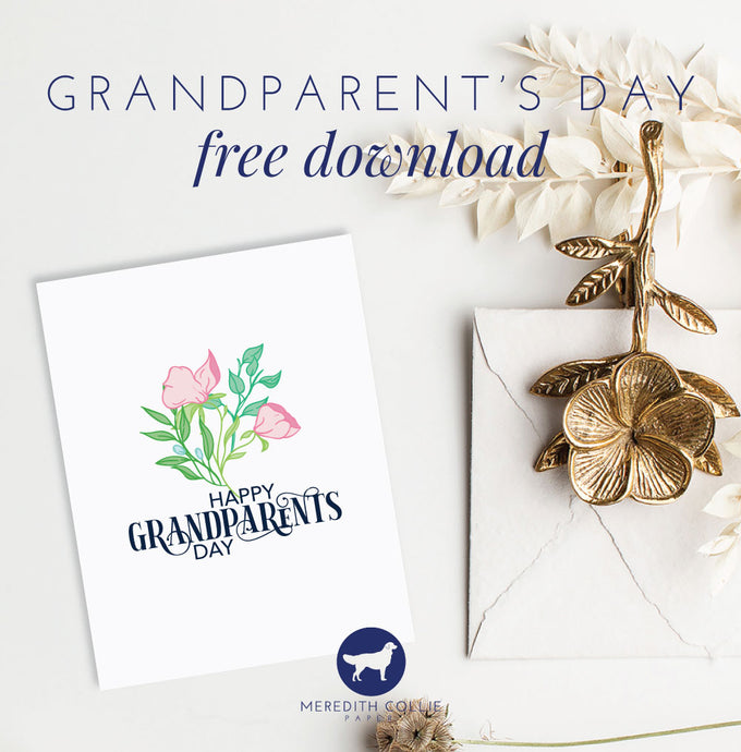 Grandparent's Day Card / Free Download