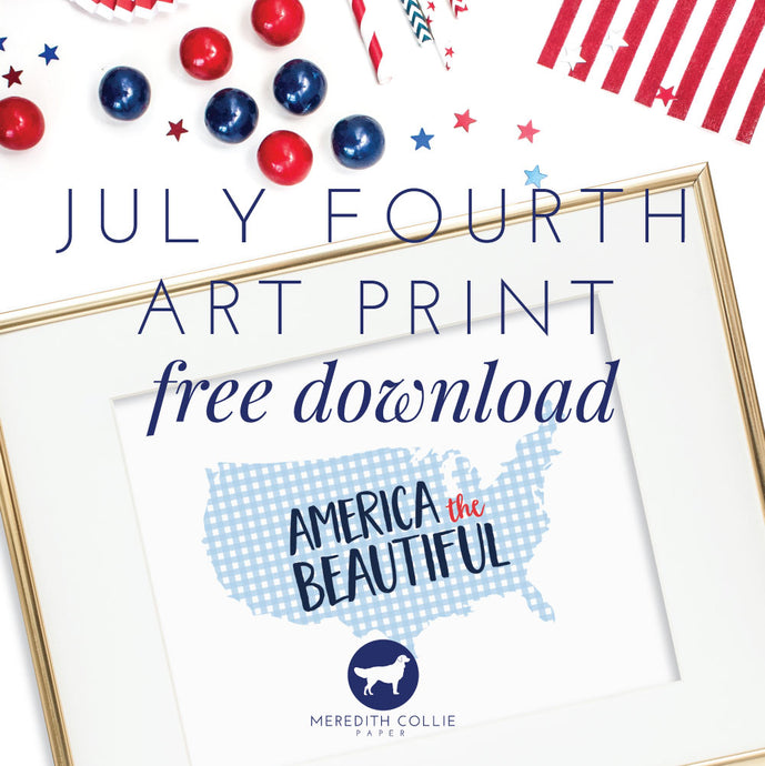 July Fourth Art Print / Free Download