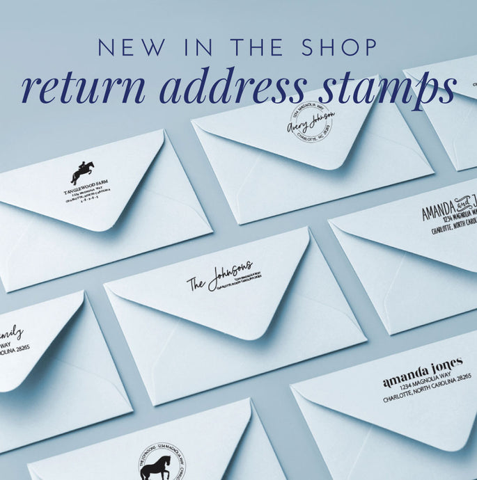 New Return Address Stamps