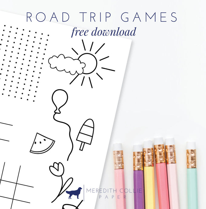 Road Trip Games for Kids / Free Printable
