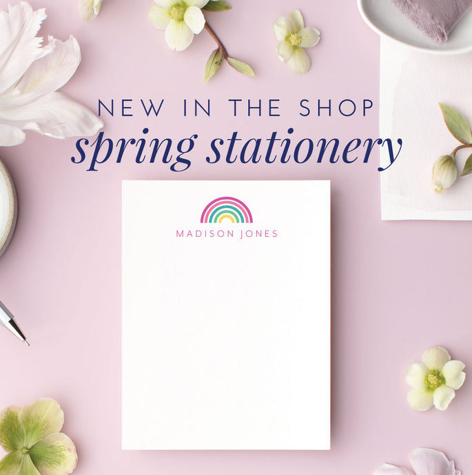 New Spring Stationery Designs