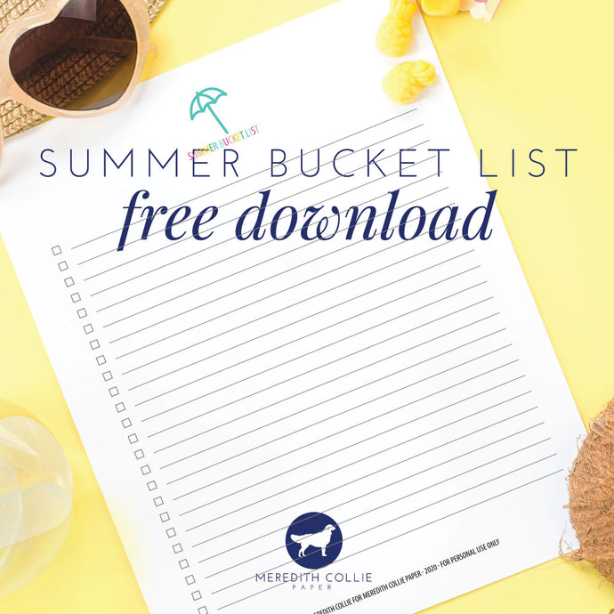 Summer Bucket List / Free Download