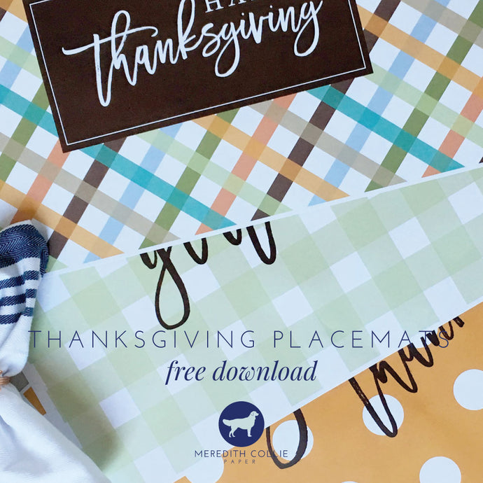 Thanksgiving Placemats / Free Download