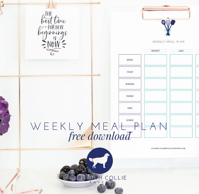 Weekly Meal Planner / Free Download