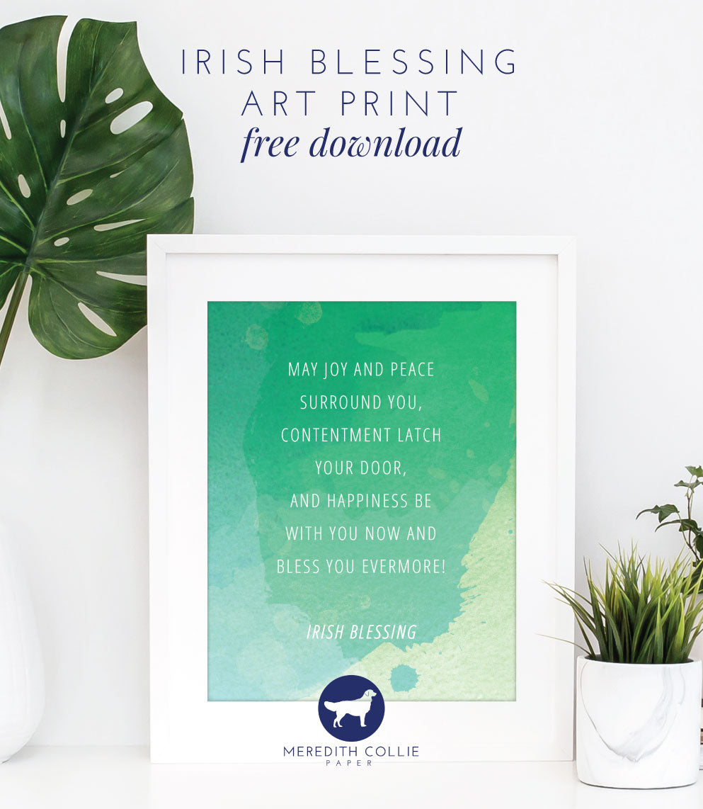 meredith collie paper and design st patricks day irish blessing