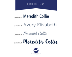 2016 Pattern Font Options | Meredith Collie Paper