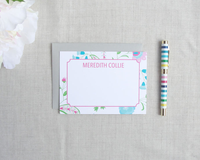 Floral Paisley Stationery Set | Meredith Collie Paper