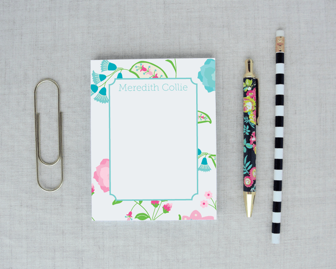 Floral Paisley Personalized Notepad