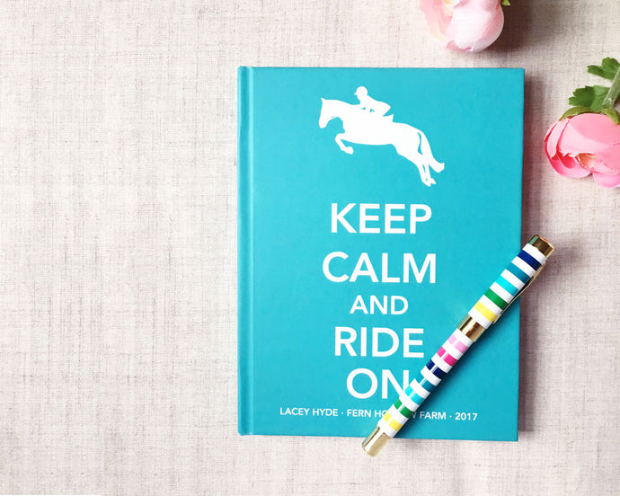 Keep Calm and Ride On Hardback Journal