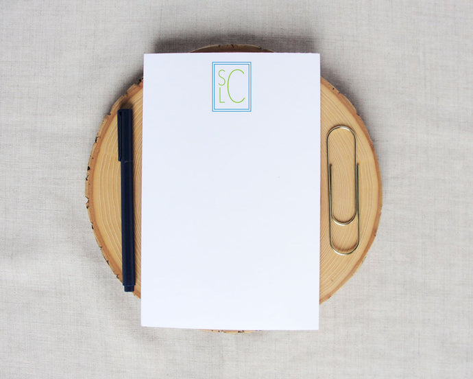 Stacked Monogram Notepad | Meredith Collie Paper