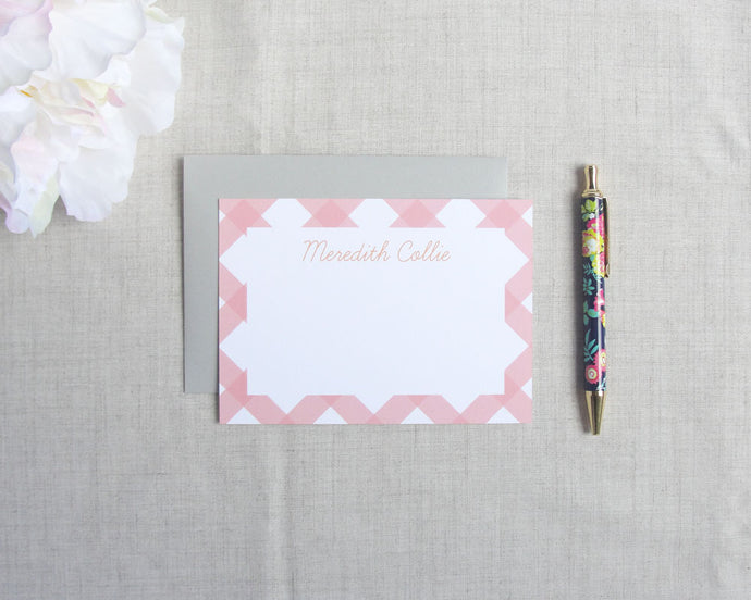 Buffalo Check Flat Stationery Set | Meredith Collie Paper