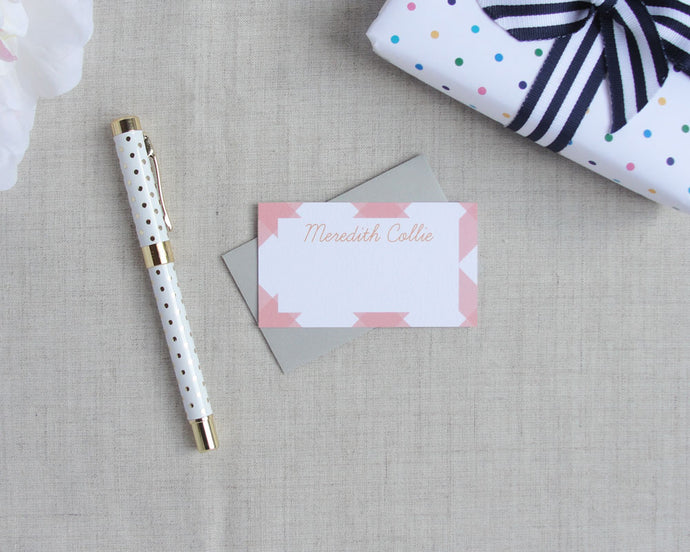 Buffalo Check Enclosure Cards | Meredith Collie Paper