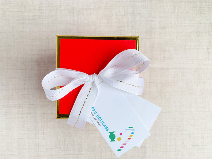 Personalized Christmas Candy Cane Holiday Enclosure Cards