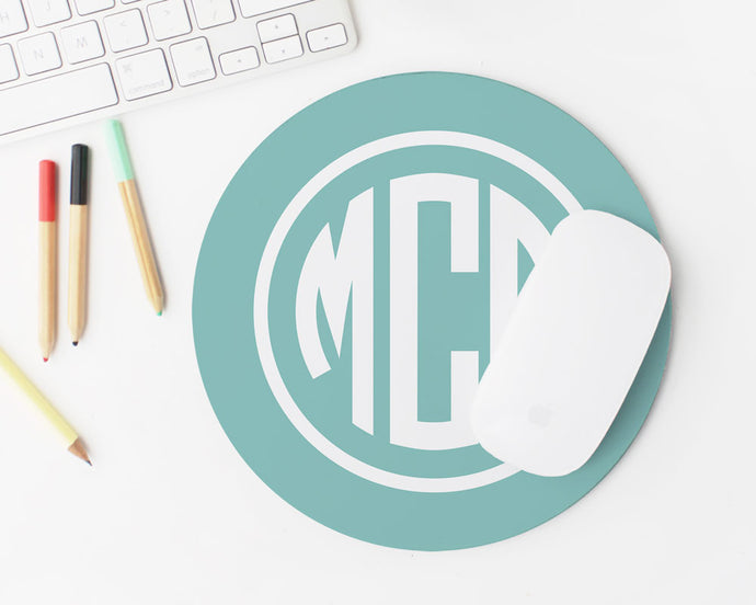 Monogram Mousepad - Circle / Meredith Collie Paper