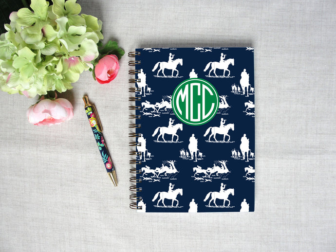 Equestrian Chinoiserie Spiral Hardback Journal