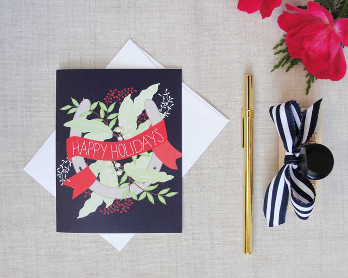 Equestrian Holiday Greeting Card