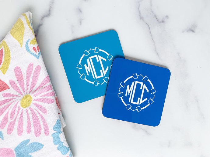Equestrian Monogram Cork Back Coasters