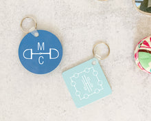 Load image into Gallery viewer, Equestrian Monogram Acrylic Keychain