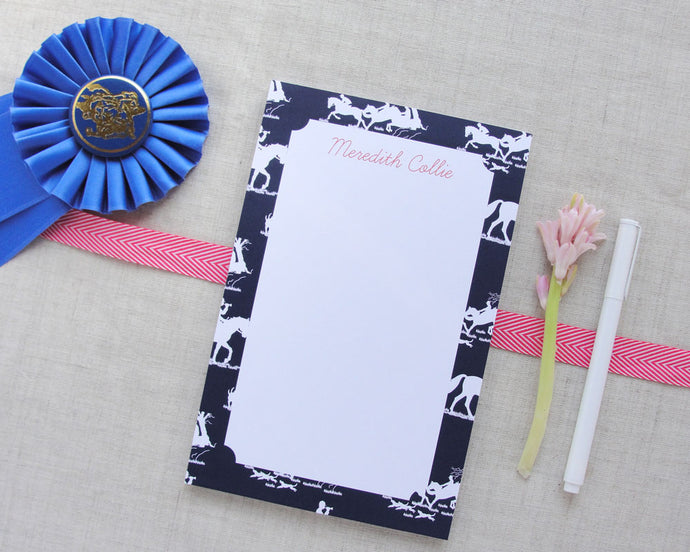 Equestrian Chinoiserie Personalized Notepad
