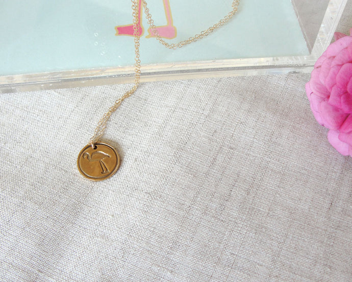 Flamingo Necklace | Meredith Collie Paper