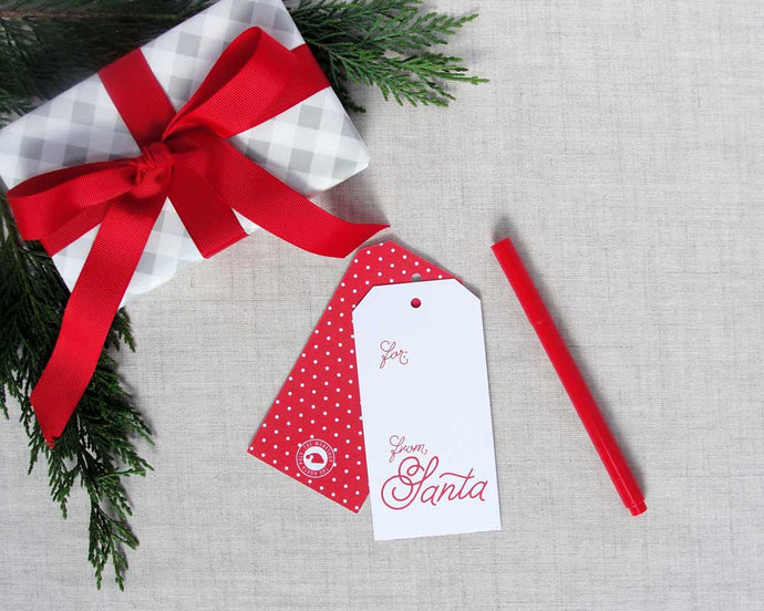 From Santa Clause Holiday Gift Tags