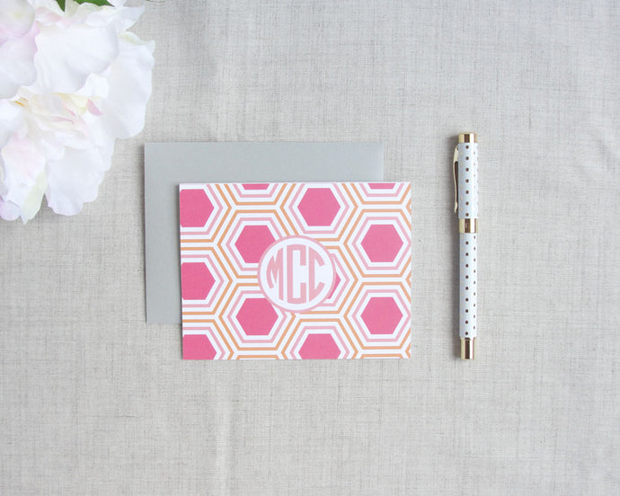 Hexagon Folded Note Cards | Meredith Collie Paper