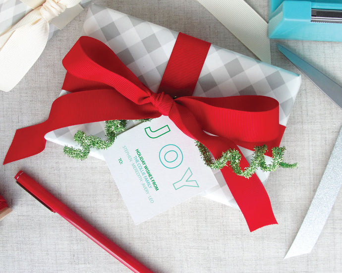 Modern Joy Ombre Holiday Gift Tags / Meredith Collie Paper