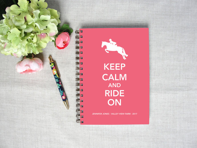 Keep Calm and Ride On Hardback Spiral Journal