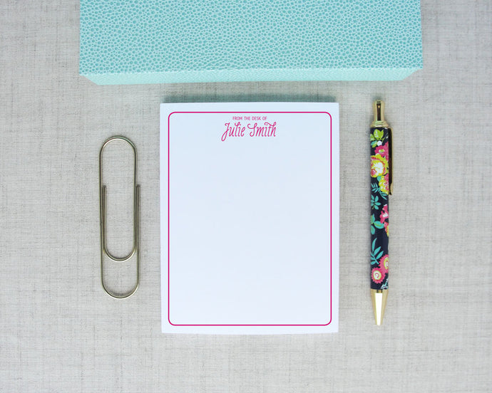 Ladies Personalized Notepad