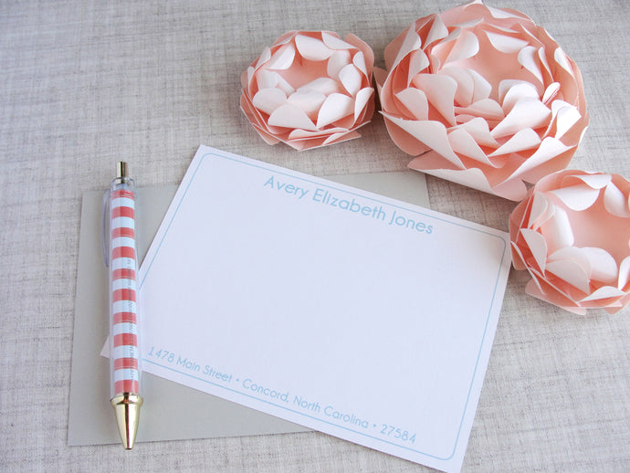 Ladies Personalized Stationery Set | Meredith Collie Paper