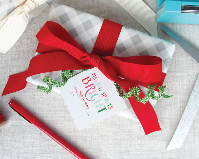 Making Spirits Bright Holiday Gift Tags / Meredith Collie Paper