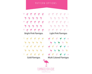 Mini Flamingo Pattern Color Options | Flamingos for a Cure | Meredith Collie Paper