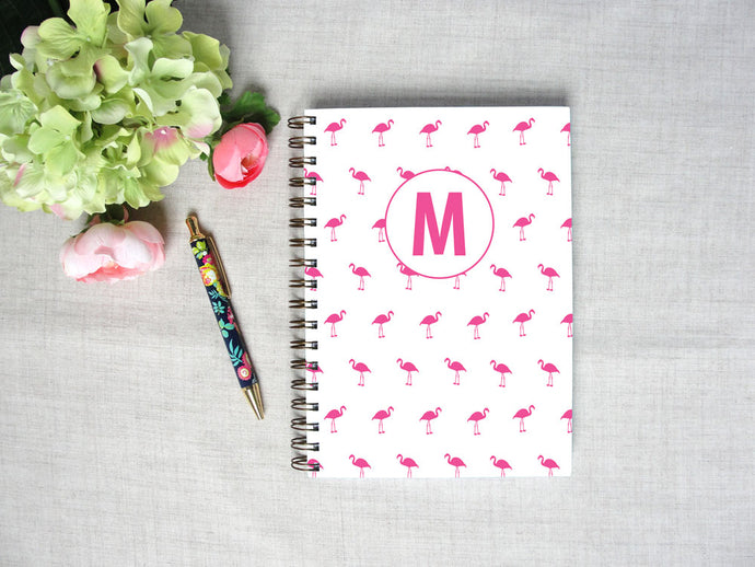 Mini Flamingo Hardback Spiral Journal
