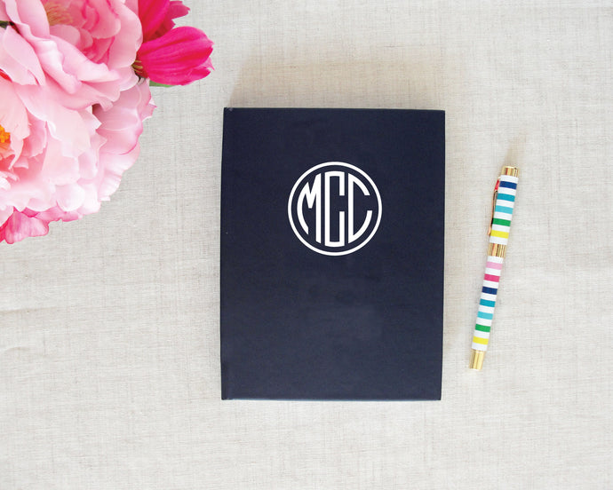 Monogram Hardback Journal