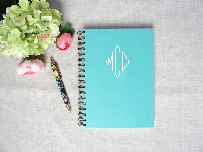 Monogram Hardback Spiral Journal
