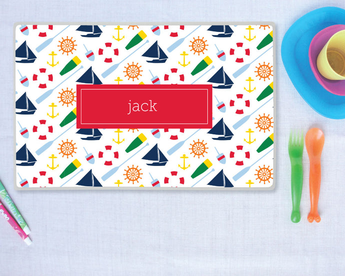 Personalized Nautical Placemat Boy | Meredith Collie Paper