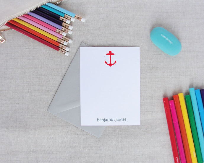 Personalized Nautical Stationery | Meredith Collie Paper