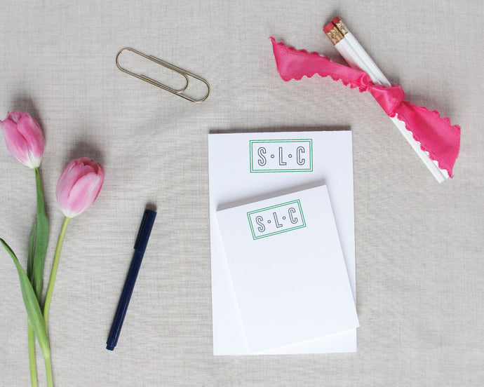 Outline Monogram Notepad / Meredith Collie Paper