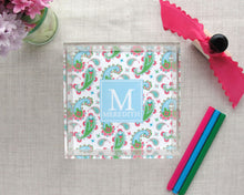 Load image into Gallery viewer, Monogram Lucite Tray in Paisley Pattern, Mini | Meredith Collie Paper