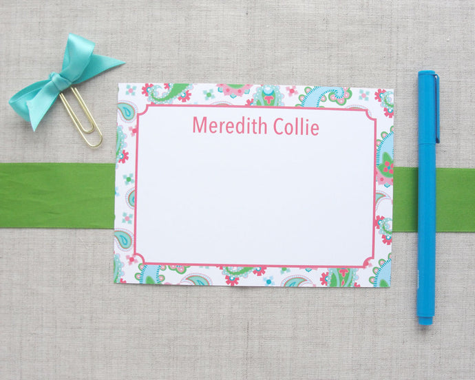 Personalized Paisley Stationery | Meredith Collie Paper