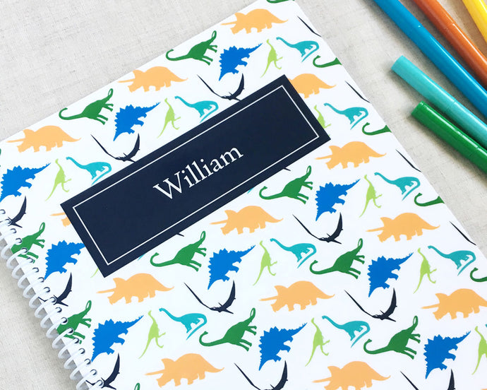 Dinosaur Personalized Spiral Notebook